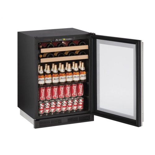 """1000 Series 24"""" Beverage Center With Stainless Frame (lock) Finish and Field Reversible Door Swing (115 Volts / 60 Hz)"""