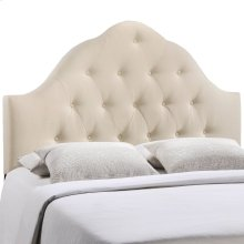 Sovereign Queen Upholstered Fabric Headboard in Ivory