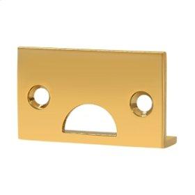 Angle Strike, Solid Brass - PVD Polished Brass