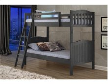 Pine Ridge Grey Distressed Bunk Bed with options: Grey, Twin over Twin