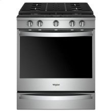 Whirlpool® 5.8 Cu. Ft. Smart Slide-in Gas Range with EZ-2-Lift™ Hinged Cast-iron Grates - Fingerprint Resistant Stainless Steel