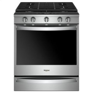 Whirlpool(R) 5.8 Cu. Ft. Smart Slide-in Gas Range with EZ-2-Lift(TM) Hinged Cast-iron Grates - Fingerprint Resistant Stainless Steel - FINGERPRINT RESISTANT STAINLESS STEEL