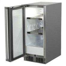 "15"" Outdoor Refrigerator - Marvel Refrigeration - Solid Stainless Steel Door with Lock - Left Hinge"