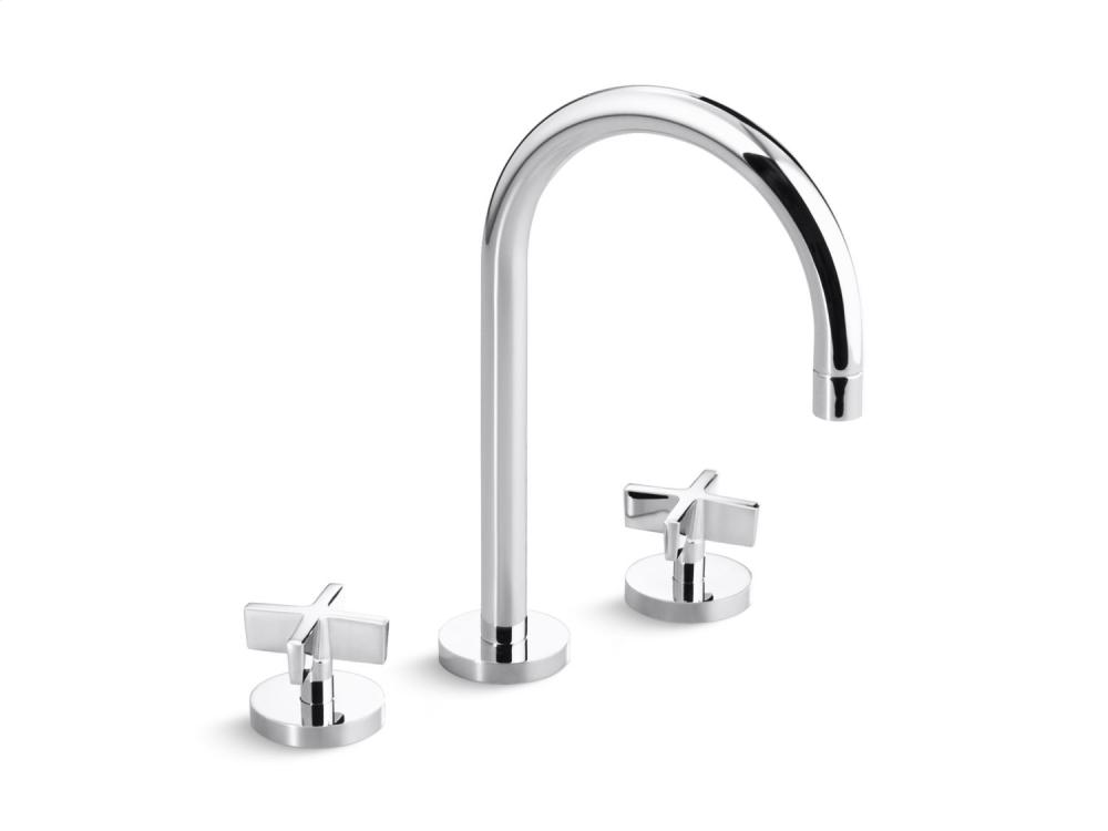 Charmant Sink Faucet, Gooseneck Spout, Cross Handles   Chrome Hidden