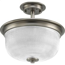 """Archie Collection Two-Light 11-3/8"""" Semi-Flush Convertible"""