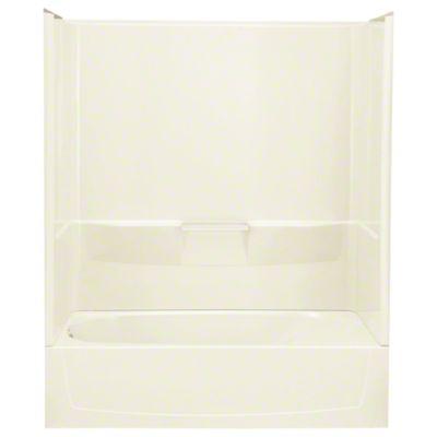 "Performa™ AFD, Series 7104, 60"" x 29"" x 78"" Bath/Shower - Left-hand Drain - KOHLER Biscuit"