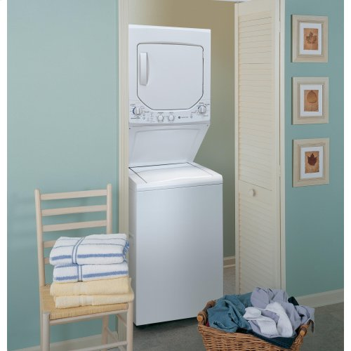 GE Unitized Spacemaker® 2.0 DOE cu. ft. Washer and 4.4 cu. ft. Electric Dryer