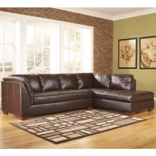 Signature Design by Ashley Fairplay Sectional with Right Side Facing Chaise in Mahogany DuraBlend Leather