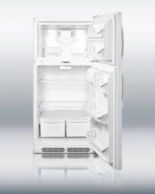 Full-sized refrigerator-freezer with dual front lock and frost-free operation