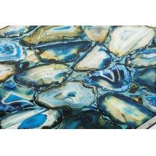 NK Agate Blue Stone Console