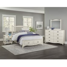 Slat Bed with available storage