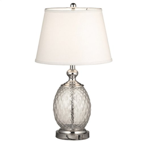 Textured Glass Lamp. 150W Max.
