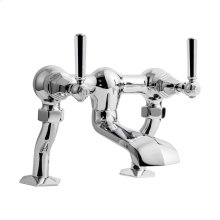 Waldorf Metal Lever Exposed Two Handle Tub Faucet - Polished Chrome