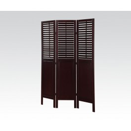 Espresso 3 Panel Wooden Screen