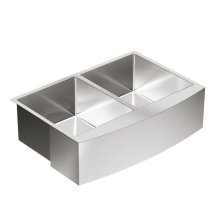 1800 Series 29-15/16x20-5/8 stainless steel 18 gauge double bowl sink