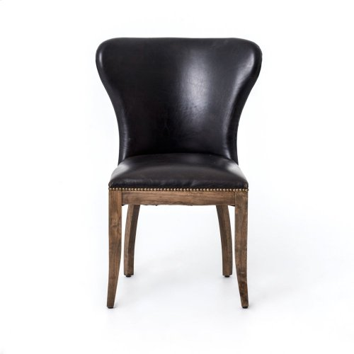 Old Saddle Black Cover Weathered Oak Finish Richmond Dining Chair