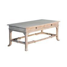 Coffee Table, Available in Aged White Finish Only.