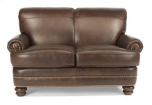 Bay Bridge Leather Loveseat with Nailhead Trim