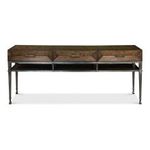 Soho Media Console, Burnt Brown Oak