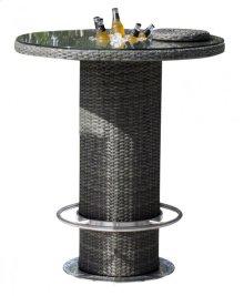 "Spectrum 40"" Round Pub Table KD w/tempered glass & ice bucket"