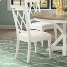 Myra - Xx-back Upholstered Side Chair - Paperwhite Finish Product Image