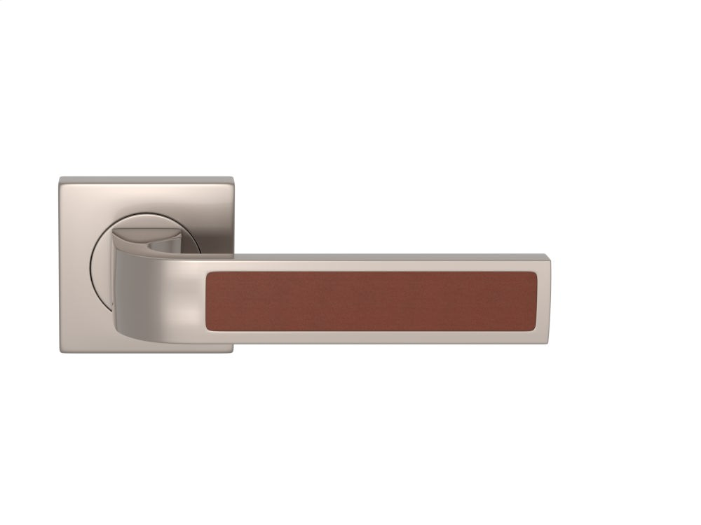 Additional Ski Recess Leather In Chestnut And Satin Nickel