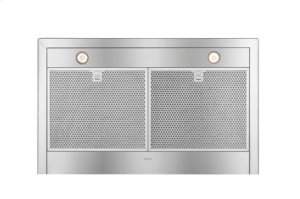 """36"""" Brushed Stainless Steel Wall Mount Chimney Hood with Internal 300 CFM Blower"""