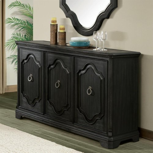 Corinne - Server - Ebonized Acacia Finish