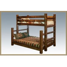 Homestead Twin over Full Bunk Beds - Stained and Lacquered