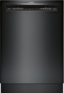 "24"" Recessed Handle Dishwasher 500 Series- Black SHE65T56UC"
