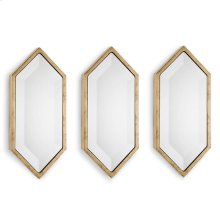 Gold Diamond Wall Panel Mirrors (set of 3)
