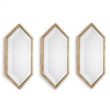 Gold Diamond Wall Panel Mirrors (set of 3)