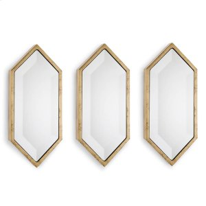 Regina Andrew  Gold Diamond Wall Panel Mirrors (set of 3)