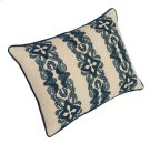 """Luxe Pillows Floral Stripe Embroidery (20"""" x 14"""") Product Image"""