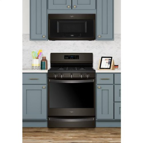 Whirlpool® 5.8 Cu. Ft. Freestanding Gas Range with Frozen Bake™ Technology - Black Stainless