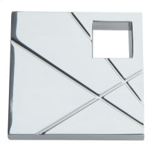 Modernist Left Square Knob 1 1/2 Inch - Polished Chrome