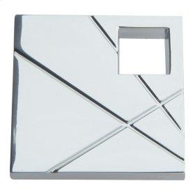 Modernist Left Square Knob 1 1/2 Inch - Polished Chrome