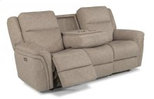 Silas Fabric Power Reclining Sofa with Power Headrests