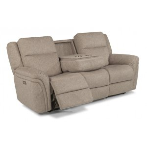 FLEXSTEELSilas Fabric Power Reclining Sofa with Power Headrests
