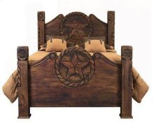 Queen Bed W/Rope and Star