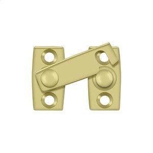 """Shutter Bar/Door Latch 1 1/8"""" - Polished Brass"""