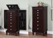 """Contemporary """"Merlot"""" Jewelry Armoire Product Image"""