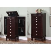 "Contemporary ""Merlot"" Jewelry Armoire Product Image"