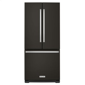 Kitchenaid20 cu. Ft. 30-Inch Width Standard Depth French Door Refrigerator with Interior Dispense - Black Stainless