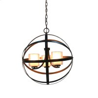 3-Light Modern Orb Chandelier in Oil Rubbed Bronze Product Image