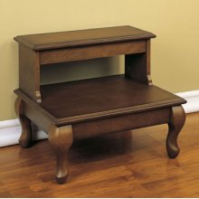 """Attic Cherry """"Antique Cherry"""" Bed Steps with Drawer - overpacked"""