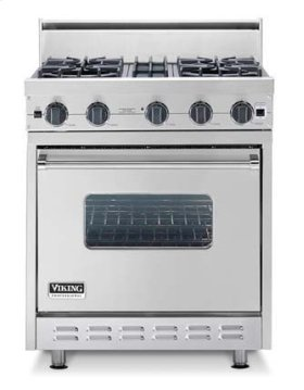 "Oyster Gray 30"" Sealed Burner Range - VGIC (30"" wide range with four burners, single oven)"