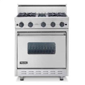 "Metallic Silver 30"" Sealed Burner Range - VGIC (30"" wide range with four burners, single oven)"