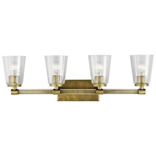 Audrea 4 Light Vanity Light Natural Brass