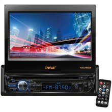 """7"""" Single-DIN In-Dash DVD Receiver with Motorized Fold-out Touchscreen & Bluetooth®"""